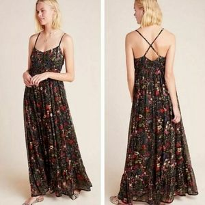 Anthropologie MASSIMA FLORAL PLEATED MAXI Dress
